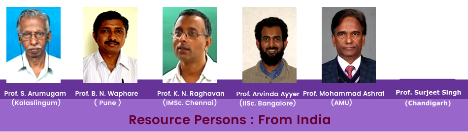Resource Persons From India